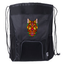 Fox Animal Drawstring Backpack