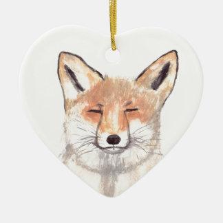 Fox animal nursery art ceramic ornament
