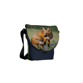 Fox Animal Office Home School Personalize Courier Bag