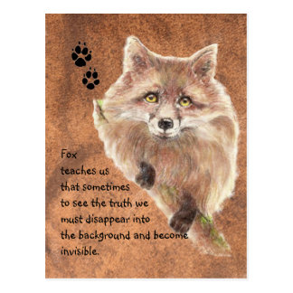 Fox Animal Totem Spirit Guide Symbol Post Card
