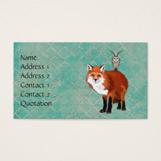 FOX & ANTLER OWL Business Card