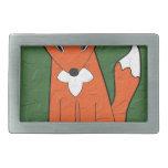 Fox arrugado hebillas de cinturon