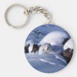 Fox ártico americano llaveros personalizados
