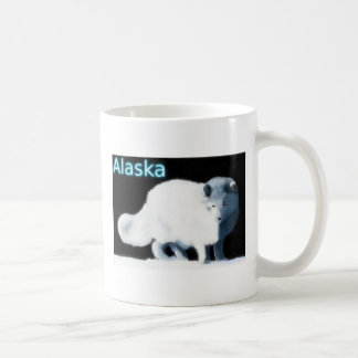Fox ártico brillante taza de café