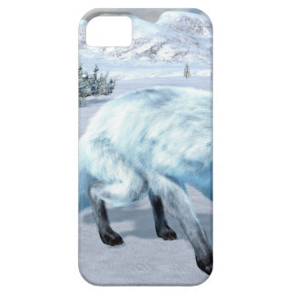 Fox ártico en invierno funda para iPhone SE/5/5s