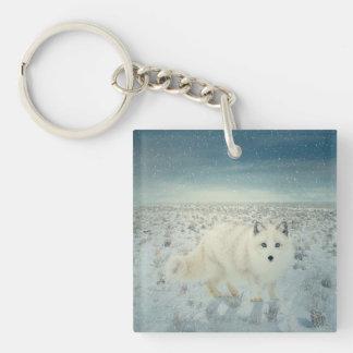 Fox ártico llavero