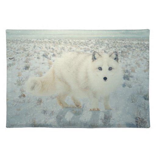 Fox ártico mantel individual