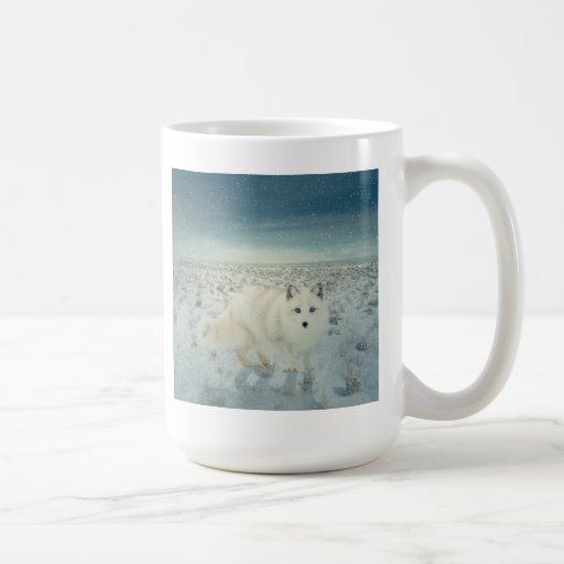 Fox ártico taza