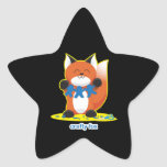 Fox astuto calcomanías forma de estrellas