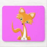 Fox astuto del dibujo animado tapete de raton