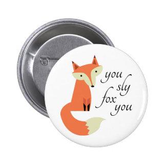 Fox astuto pin redondo 5 cm