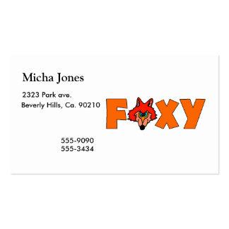 Fox astuto tarjetas de visita