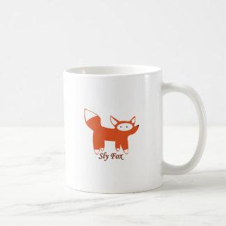 Fox astuto taza básica blanca