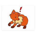 Fox asustado postal