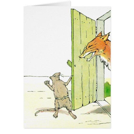 Fox at the Door Card