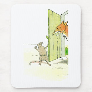 Fox at the Door Mouse Pad