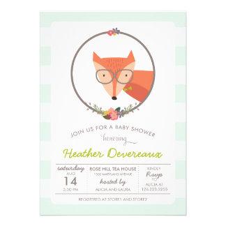 Fox Baby Boy Baby Shower Personalized Invite