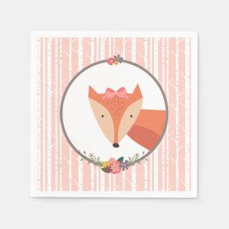 Fox Baby Boy Baby Shower Paper Napkin