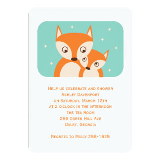 Fox Baby Shower 5x7 Paper Invitation Card