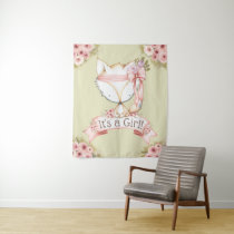 Fox Baby Shower Banner Backdrop