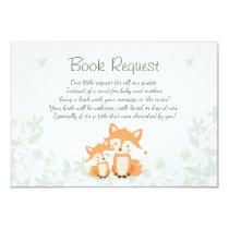 Fox Baby Shower Bring a book card Woodland