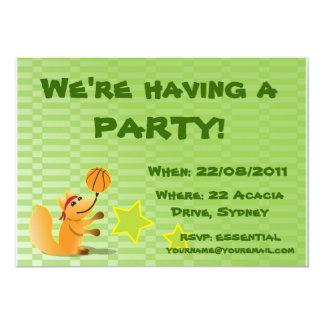 Fox Basketball Invitation to my party