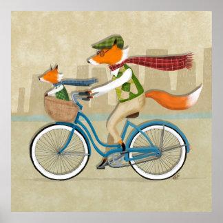 Fox Bike Ride Poster