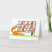 FOX BIRTHDAY SURPRISE greeting card