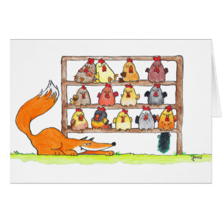 FOX BIRTHDAY SURPRISE greeting card