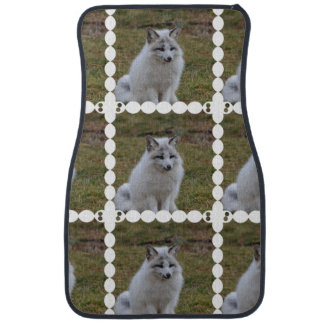 Fox blanco adorable alfombrilla de auto