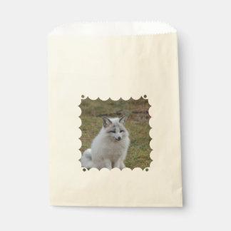 Fox blanco adorable bolsas de recuerdo