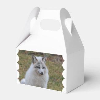Fox blanco adorable cajas para detalles de boda