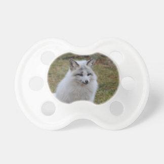 Fox blanco adorable chupetes de bebe
