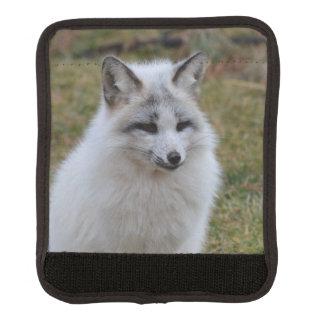 Fox blanco adorable funda para asa de maleta