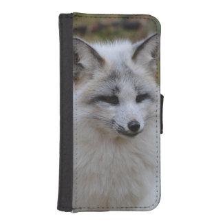 Fox blanco adorable fundas billetera para teléfono