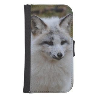Fox blanco adorable fundas tipo billetera para galaxy s4