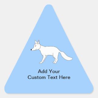 Fox blanco calcomanía triangulo personalizadas