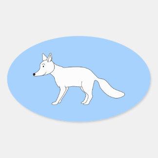 Fox blanco colcomanias ovaladas