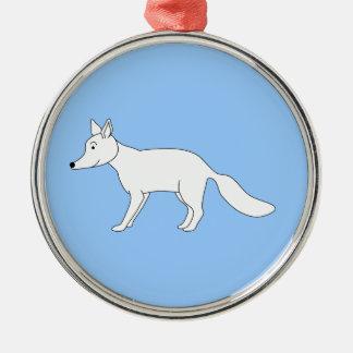 Fox blanco adornos de navidad