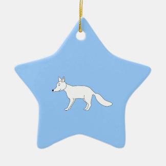 Fox blanco ornamente de reyes