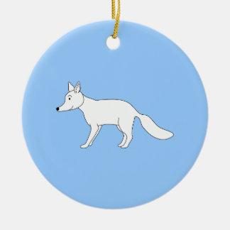 Fox blanco adorno de navidad