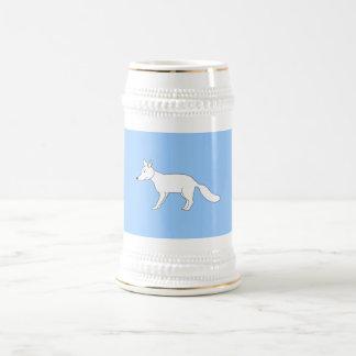 Fox. blanco jarra de cerveza