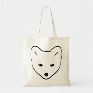 Fox blanco lindo bolsa tela barata