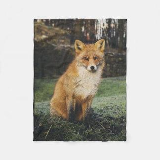fox blanket, foxy throw, fox cub throw blanket