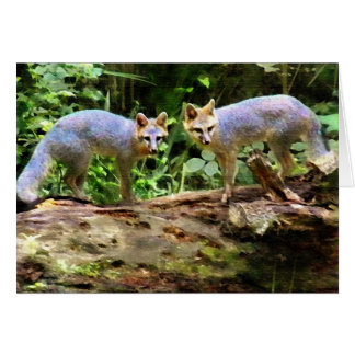 FOX BOOKENDS STATIONERY NOTE CARD