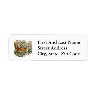 Fox by a Fence Return Address Label