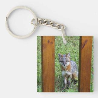 Fox by the Deck Key Chain