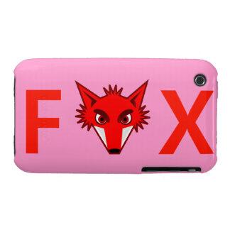 Fox, caja de la casamata de la curva de Blackberry Funda Bareyly There Para iPhone 3 De Case-Mate