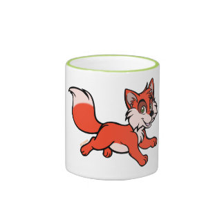 Fox cartoon ringer coffee mug