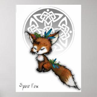 Fox céltico del alcohol póster